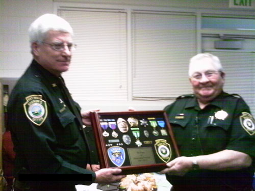 Prowers County Sheriff Jim Faull with Ben Franco