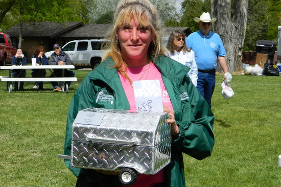 Former Backyard Grillers Champion with Traveling Trophy