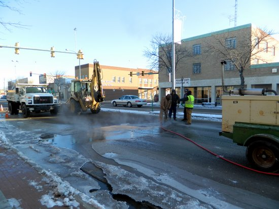 Earlier Street Repairs at Main and Olive Intersection