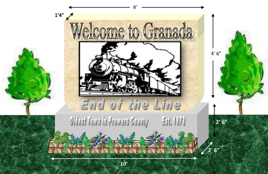 Welcome Sign for Granada