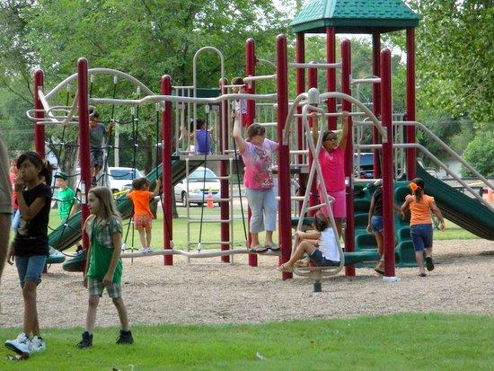 Kids on Playground Equipment at Granadad Park