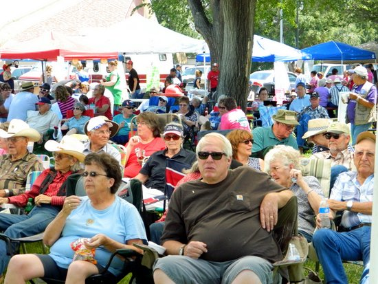 Saturday Audience for Blue Grass Festival