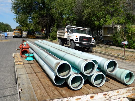 Water Pipeline Replacement on East Maple Street in 2012