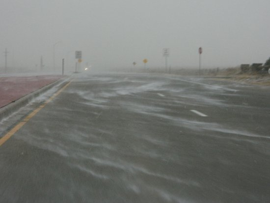 Highway 287/385 Southbound During Winter Snow