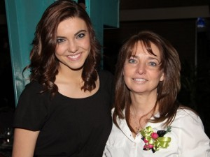 Lori Hammer, Pictured with her Daughter at Chamber Banquet