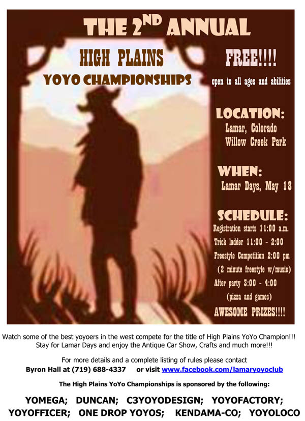 2nd Annual High Plains YoYo Championships Flyer