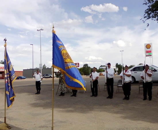 Color Guard for Eagles Memorial Day Ceremonies