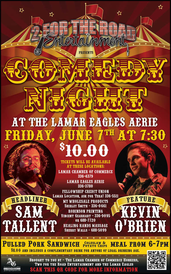 Comedy Night Flyer June 7