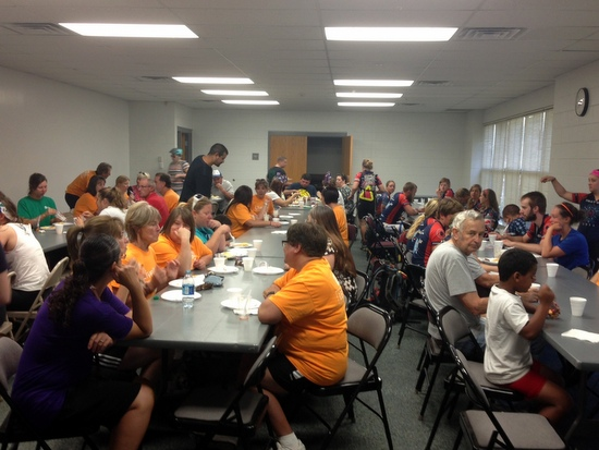Packed House for the Bike to Work Breakfast