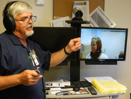Telehealth Technician Demonstrates the Diagnostic Computer