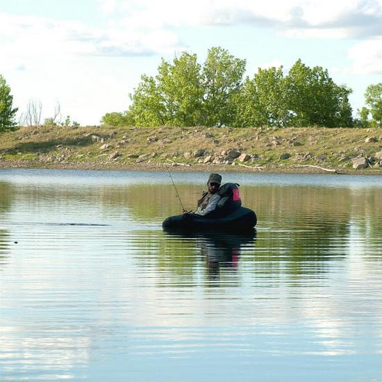 Belly Boat Fisherman - Photo by Michael Seraphin - Colorado Parks and Wildlife
