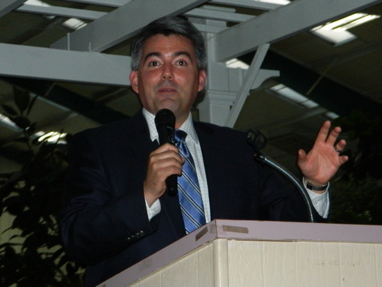 Congressman Cory Gardner at GOP Independence Day Dinner