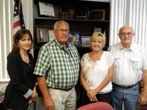 Tammi Clark, with Commissioners During July 15 Hiring