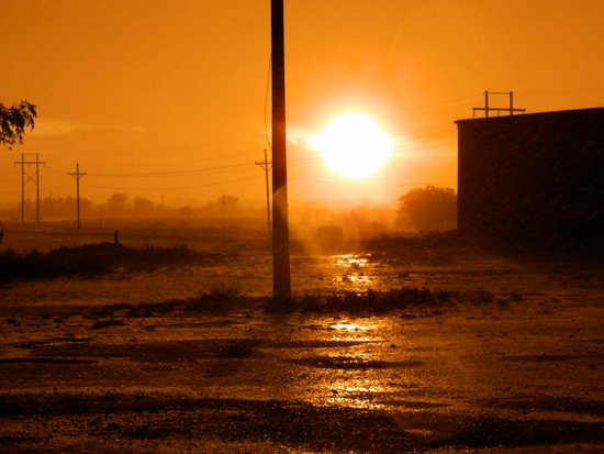 Recent Rain Storm West of Lamar