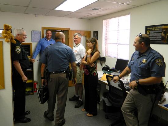 Troop 2C Hosts Visitors to HQ