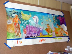 Early Mural Design in Color