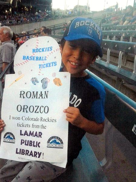 ROMAN OROZCO - Rockies Winner at game