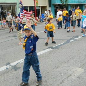Boy Scout Troop in Parade