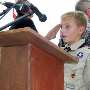 Boy Scouts Led in the Pledge of Allegiance
