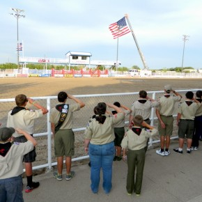 Boy Scouts Honoring the Flag