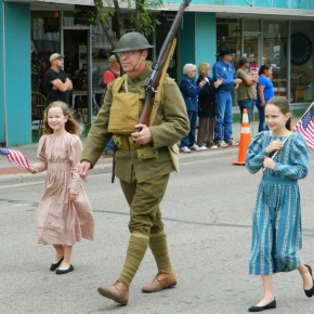 WWI Doughboy in Parade