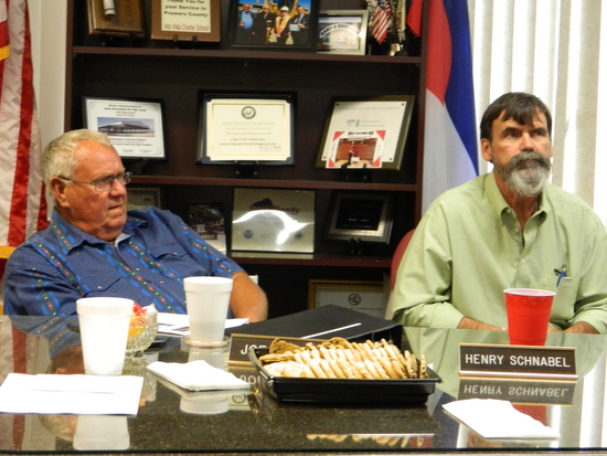 Commissioner Joe Marble and Lamar Mayor Roger Stagner
