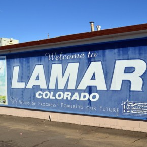 Lamar Airport Welcome Sign
