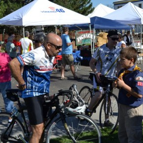 The Boy Scouts 223 Troop Help Out Some Thirsty Riders