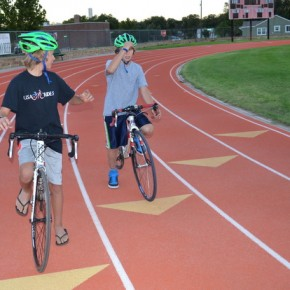 Young Riders Test the Lanes at Savage Stadium