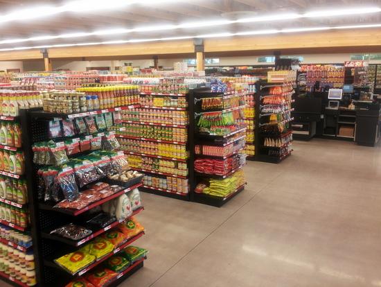 Stocked Shelves in New Store