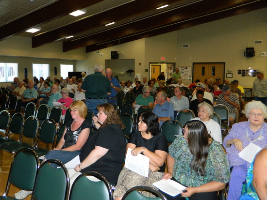Capacity Crowd on hand for Public Hearing
