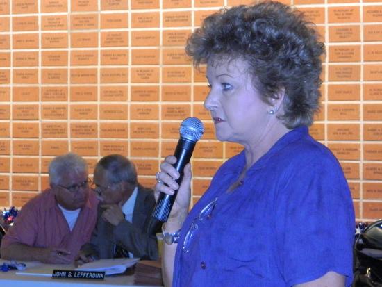 Jillane Hixson Addressing Public Hearing at SOS Center