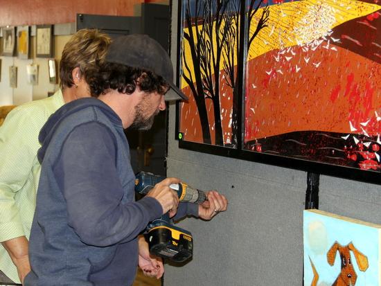 Autumn Artshow Hanging 2013 (4)