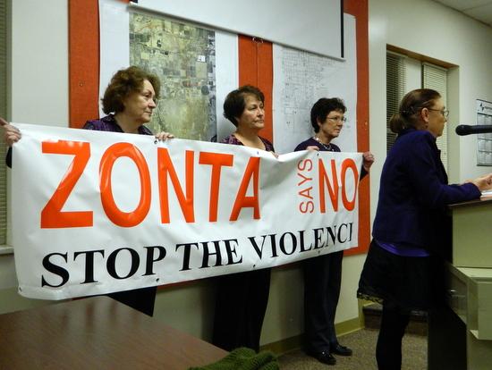 Zonta Banner City Council