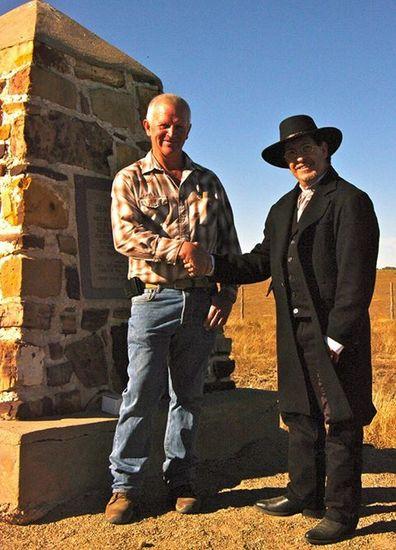 Brad at Bent's New Fort Dedication