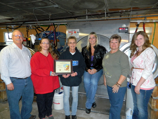 Pictured Left to Right – Vincent Gearhart (Robinson Printing), Tiffany Saldana (Manager), Tammy Moran (Owner), Holly Burton (High Plains Community Health Services), Shirley Smith (My Wholesale Products) and Kristin Lubbers (Prowers Journal).