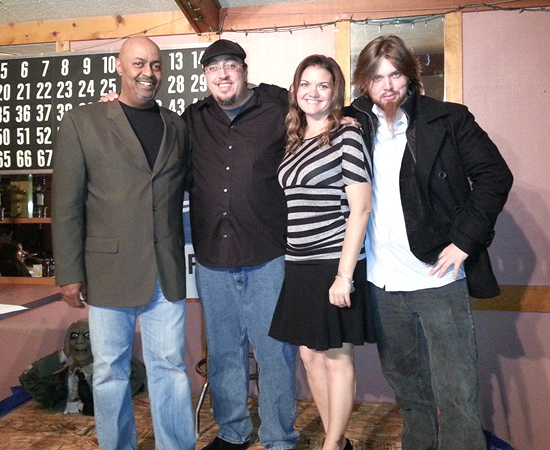 Left to Right: Headliner Eugene Kenny, Promoter Larry (Moose) Lundsrtom, Feature Jill Tasie and Feature Kevin Bennett. Courtesy Photo