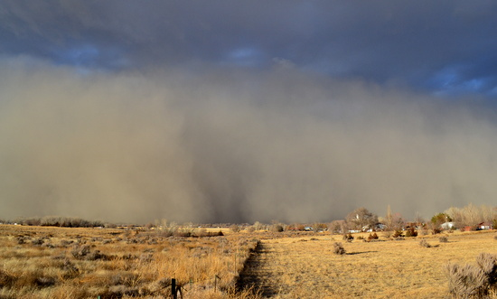 Dust Cloud Approaching from the North