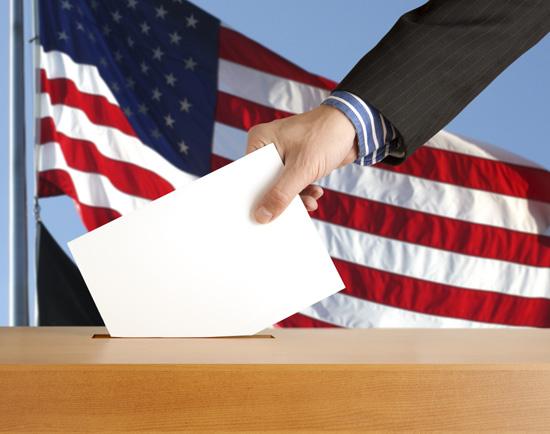 ballot box w hand