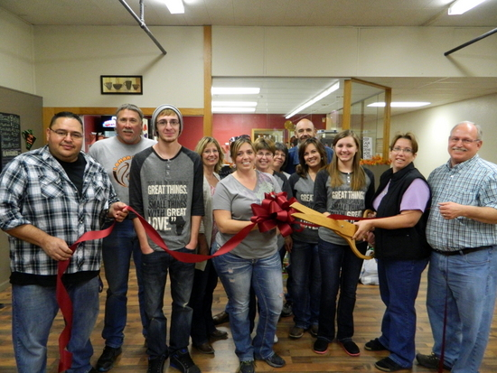 Pictured Left to Right: Mark Encinias (Mark's Barber Shoppe), Bubba Bender (City of Lamar – Light & Power), Nathan Stone, Judy Schneider, Renee Beebe, Linda Inman, Deb Maggart, Joe Bennett, Rachel Marks, Maggie Schneider, Tera Bender (Domestic Safety Resource Center) and Vincent Gearhart (Robinson Printing).