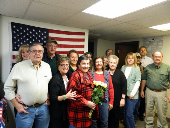 Voices of Southeast Colorado  hosted a party for Dombourian's new citizenship