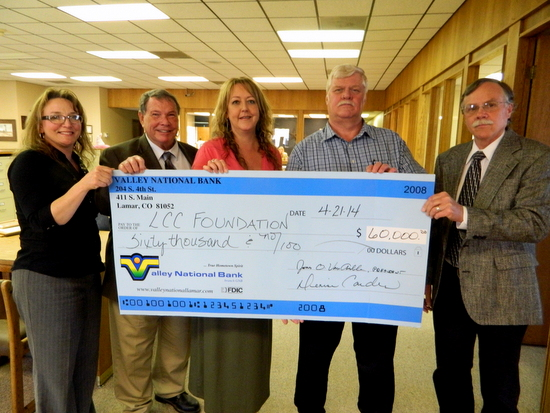 VNB Donation Check to LCC