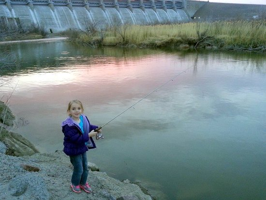 Courtesy Photo of fishing in the spillway at John Martin Reservoir