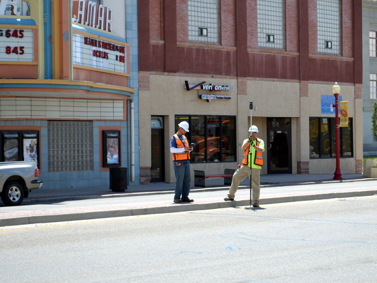 Working in Traffic on South Main Street