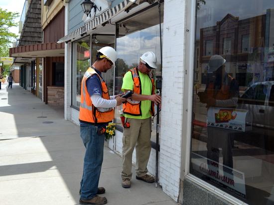 CDOT Surveyors on Main Street in Lamar