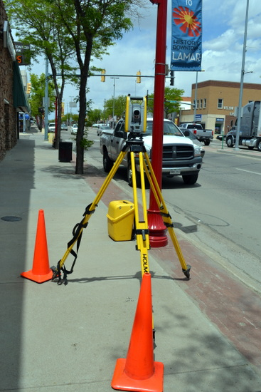 Surveying Laser for Mapping Main Street