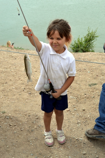 Libby Tovar Proudly Displays her Catch