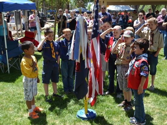 Lamar Scouts Highlight Pledge of Allegiance