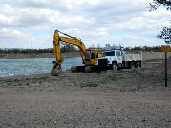 New excavation Work on East Edge of Pond