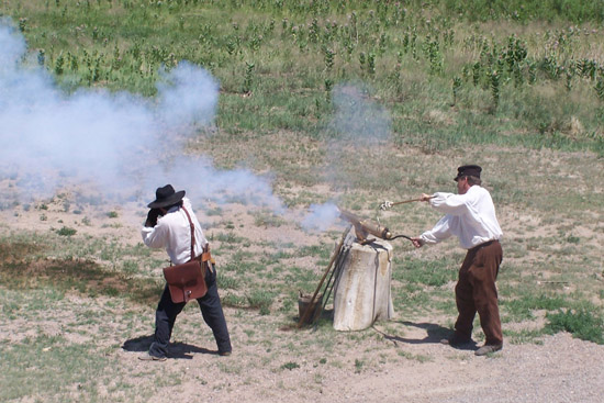 Bent's Fort cannon firing